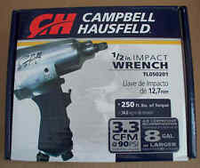 "Campbell Hausfeld 1/2"" Impact Wrench-250 ft lbs of Torque-Tl050201-Combine Ship"
