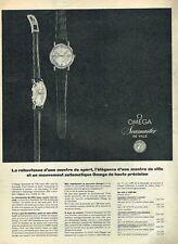 C- Publicité Advertising 1958 Les Montres Omega Seamaster De Ville