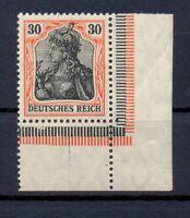 DR 89 II y Germania 30 Pfg. auf orangeweiß ER postfrisch tiefst geprüft (kr50)