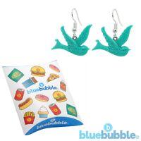 Bluebubble FREE BIRD Swallow Earrings Cute Kitsch Peace Love Fun Festival Animal