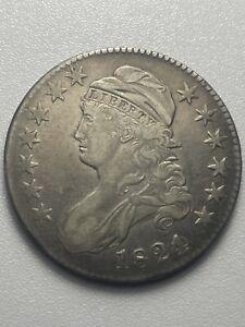 us coins capped bust half dollar. 1824/0 Rare Mint Error. Beautiful Coin.