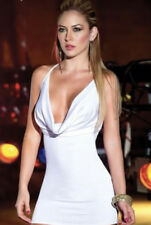 Nuisette / robe blanche sexy décolletée