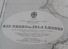 More details for admiralty chart - rio negro - isla leones, e. coast argentina
