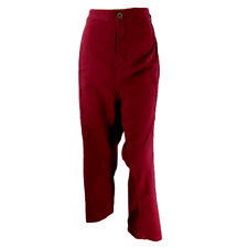Catherines Size 5X Comfort Waist Crop Capri Pants Red Stretch Casual Seam Plus
