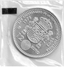 MONEDA DE PLATA 12 EUROS AÑO 2003 EN SU PLÁSTICO ORIGINAL