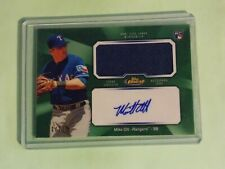 2013 Topps Finest Mike Olt Green Refractor Rookie Jersey Auto RC #1/125 H99