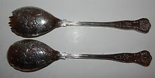"""PAIR OF BEAUTIFUL VINTAGE SILVER PLATED SERVING SPOONS - """"FALSTAFF ON ZINC"""""""
