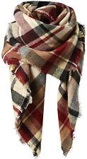Women Winter Oversize Warm Blanket Tartan Scarf Plaid Check Thick Wrap Shawl