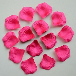 100 Hot Pink Quality Silk Rose Petals Confetti Wedding Mothers Day Decorations