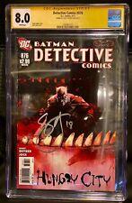 """Detective Comics #876 CGC 8.0 Signature Series Signed """"Scott Snyder*"""