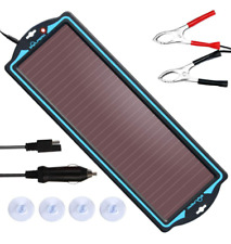12 Volt Solar Battery Maintainer Waterproof Car Rv Charger Tender Trickle 18w