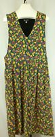 Requirements Womens Ladies Green Multi Color Corduroy Jumper Dress Size Large