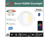 4 x 9W WiFi Smart RGBW LED Downlight for Automation, Alexa Google Home Control
