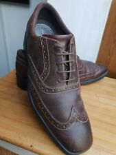 """ROCKPORT BROWN LEATHER BROGUES == UK 8.5 == """"DYNAMIC SUSPENSION"""""""