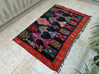 Moroccan Vintage Handmade Rug Old Azilal Berber Rug Beni Ourain Tribal Carpet