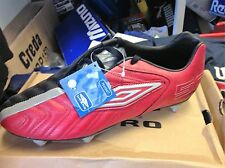 UMBRO 50/red/black  football BOOTt in leather size 7 8 uk at £20