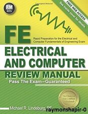 FE Electrical and Computer Review Manual by Michael R. Lindeburg PE, 1591264499