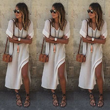 Hippie Boho Womens Summer Evening Cocktail Party Beach Long Maxi Dress M CHC05