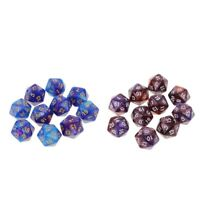 20pcs 20 Sided Dice D20 Multi-sided Die Pack for  D&D