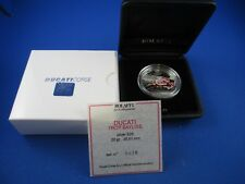 2009 PALAU Silver Proof $5 coin, DUCATI CORSE - TROY BAYLISS -