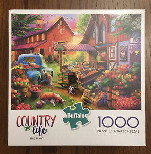 Buffalo Games Bells Farm Country Life Puzzle 1000 Pieces w/UNUSED Poster NICE