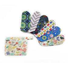 6pcs Waterproof Reusable  Sanitary Menstrual Cloth Pads Liners With Free Bag