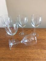 "SET OF 5 Traditional Stem 12-ounce Clear 7-1/4"" Wine Glasses"