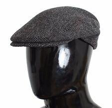NEW $260 DOLCE & GABBANA Hat Cap Newsboy Gray Tweed Wool Cabbie Flats s. 58 / M