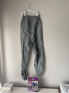 "Gray Sauna Suit Pants - Size M/L 30-38""  Waist Heavy Duty Vinyl Wipe Clean"