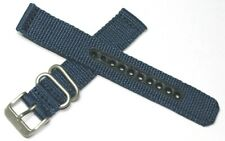 GENUINE SEIKO TOUGH MILITARY NYLON WATCH STRAP BLUE FITS ANY 18MM WATCH + PINS