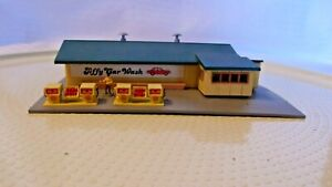 N Scale Bachmann Jiffy Car Wash with Gas Pumps, Building, Built, Vintage,