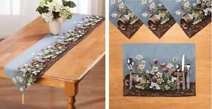 Spring Floral Fabric Table Linens Placemat Runner Easter Kitchen Dining
