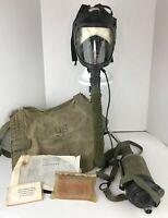 American 1987 VTG M24 Aircrew Gas Mask Respirator Kit: Bag Tinted Lense Filter