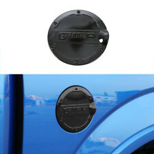 Black ABS Gas Door Cover Fuel Tanks Oil Cap Decor fits Ford F-150 F150 2015-2018