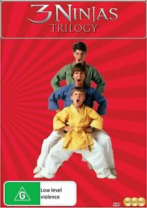 3 NINJAS TRILOGY (Reg Free) DVD Kick Back Knuckle Up High Noon at Mega Mountain