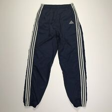 Vtg Adidas 90's Nylon Windbreaker Track Pants Men's Size Medium Blue White