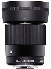 Sigma 30mm F1.4 DC DN Lens in Sony E-mount fit