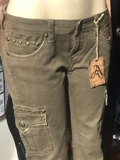 Women's Antique Rivet cargo skinny Studded Jeans  sz 28 New Msrp$105.00
