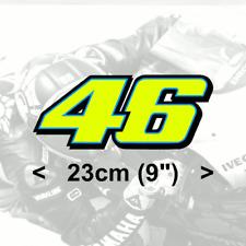 "Valentino Rossi FLUORESCENT YELLOW  vinyl sticker (2014)  1 x 23 cm 9"" stickers"