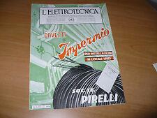 RIVISTA L'ELETTROTECNICA AEI N.16 8/1936 COPERT.SOC.IT.PIRELLI CAVETTI IMPERMIO