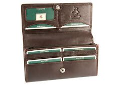 Visconti Large Multi Compartment Ladies Leather Purse Womens Wallet - Ht35 Brown
