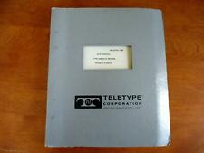 Teletype Printing Telegraph Systems Bulletin #138B-Adjustments Model 15 and 20