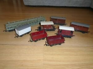 Collection of Triang Wagons for Hornby OO Gauge Train Sets