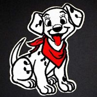 Cartoon Dalmatian in Red Gingham Blanket Embroidery Patch