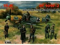 ICM 48803 Bf-109F-2 German Fighter with pilots 1/48 plastic model 188 mm