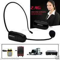 2.4GHZ Wireless Microphone Speech Headset Megaphone Radio Mic for Loudspeaker