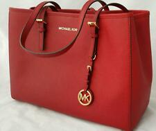 Michael Kors East West Satchel Large Red Tote Hand Bag EXPRESS POST AUTHENTIC