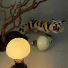 2 Yellow GE Electric Lamps Vintage Light Bulbs 50 Watt 120 V Art Deco Mushroom