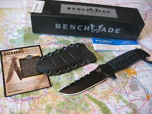 Benchmade 375BK Siebert Adamas Knife D2 Drop Point Skeletonized snap in Sheath !