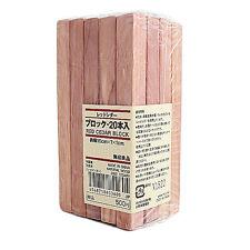 MUJI Red Cedar Wood Sticks 20 pcs good for putting in Costume case, Shoe Case